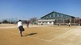 くまつくスポーツ(2月)ソフトテニスの様子