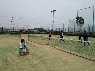 くまつくスポーツ(6月)ソフトテニスの様子